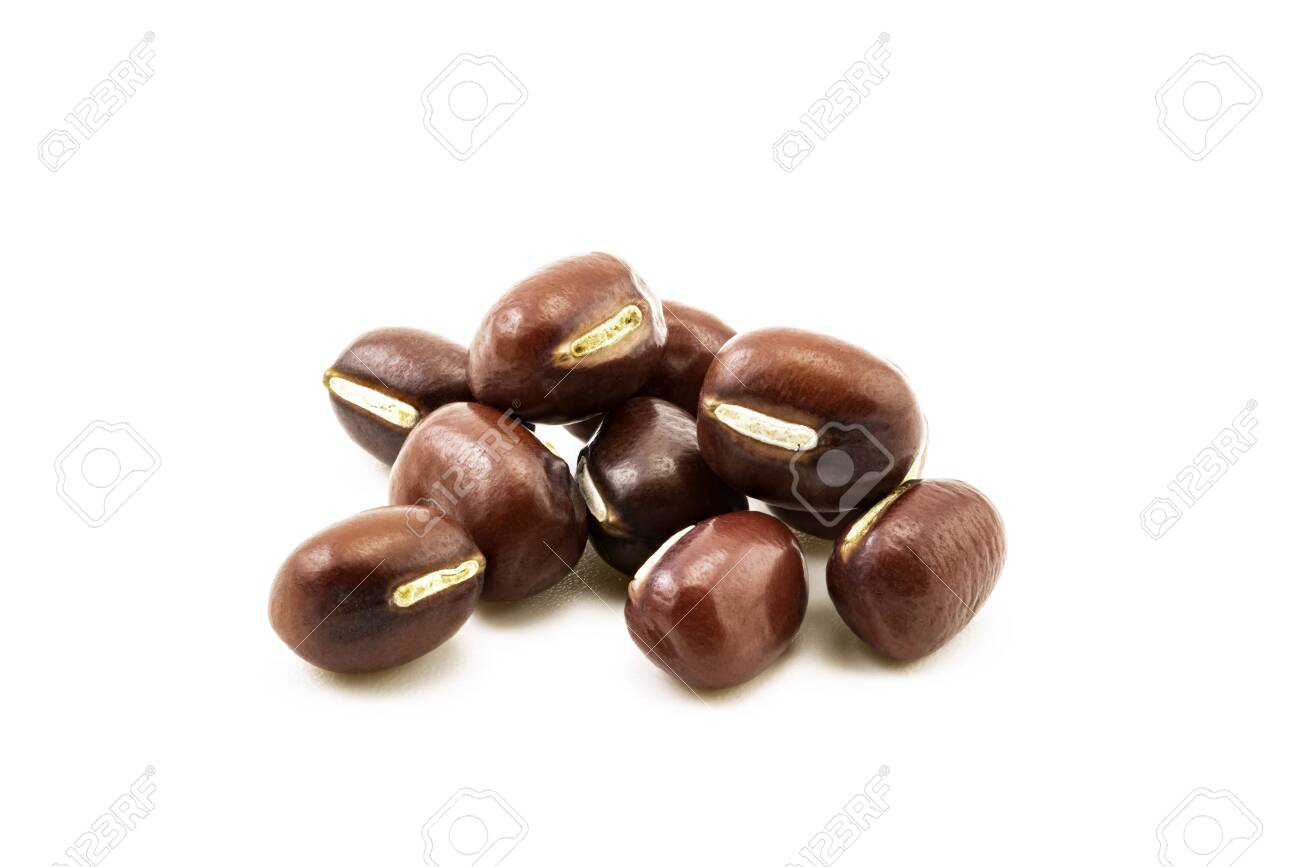 Pile of red beans isolated on white background - 131809336