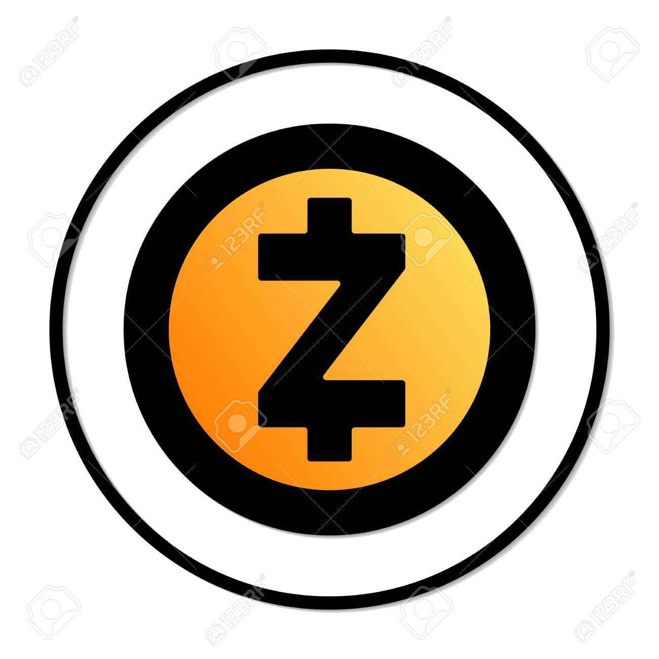 Zcash Sign Icon Illustration Stock Vector