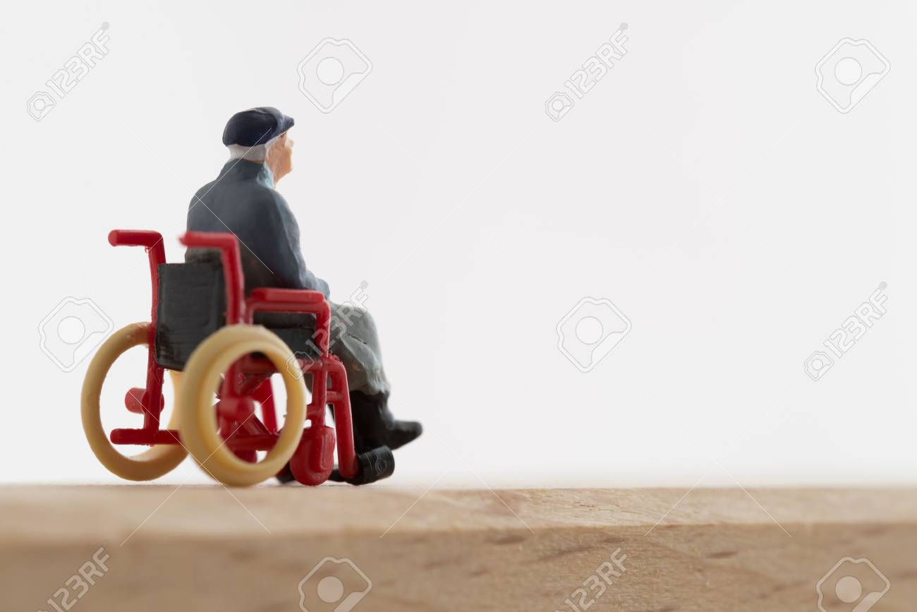 Old man of the wheelchair - 60765927