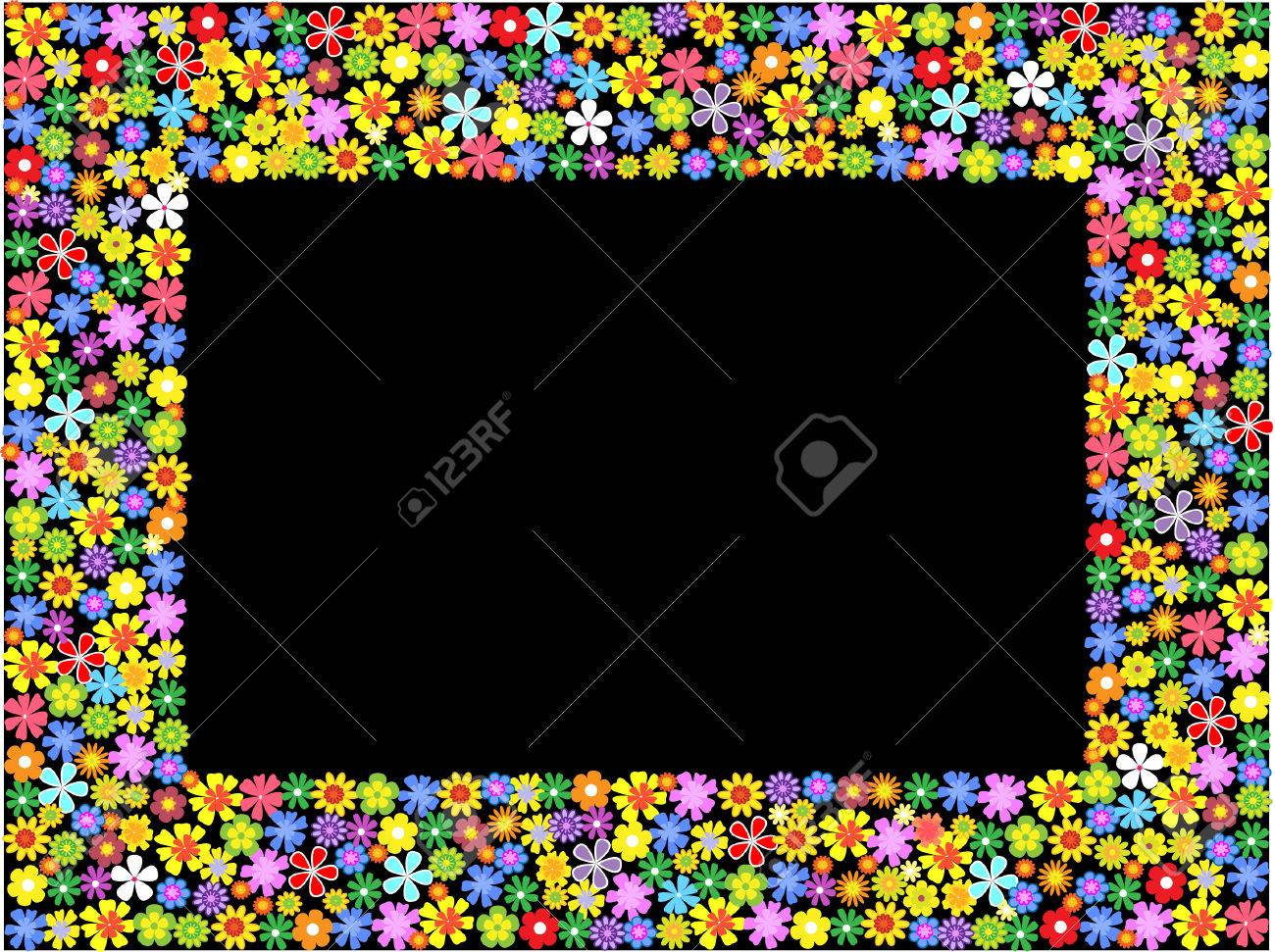 bright floral frame.vector illustration Stock Vector - 8155700