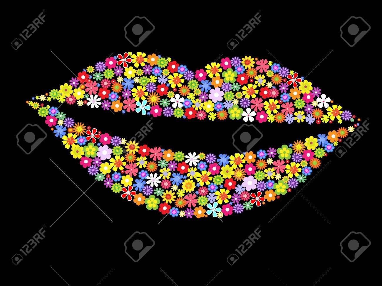 lips of flowers.vector illustration Stock Vector - 8155683