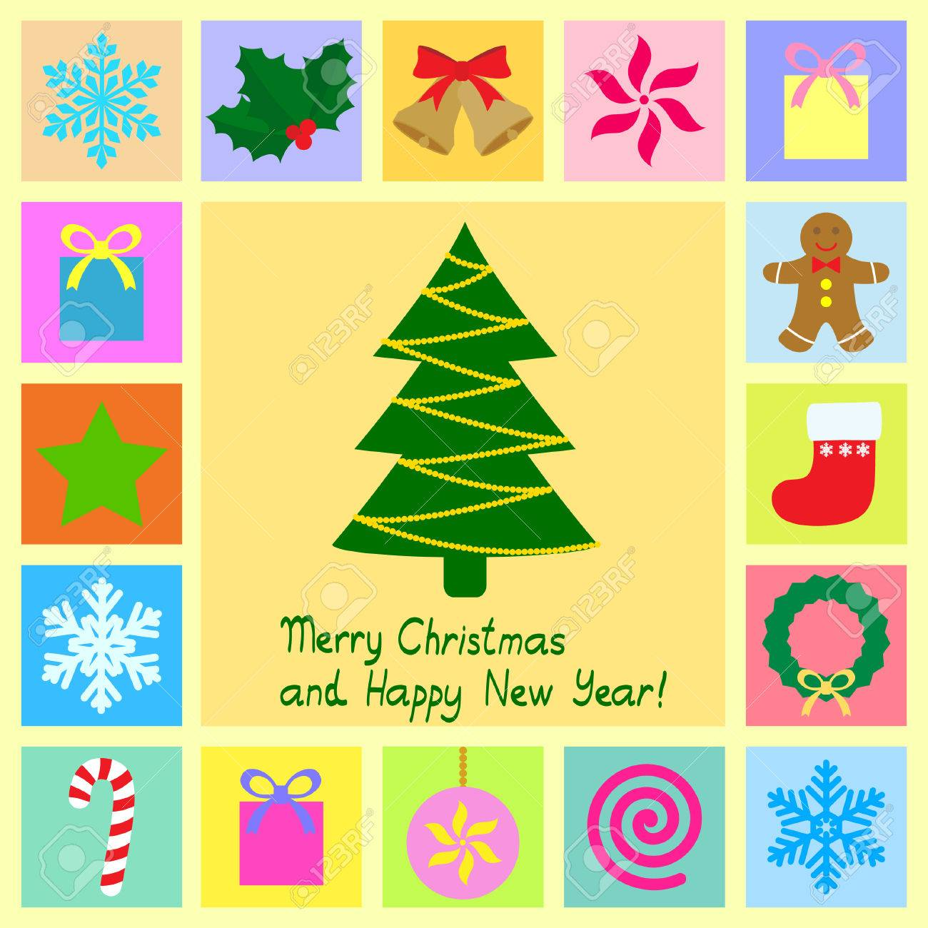 christmas theme symbols Stock Vector - 9041705