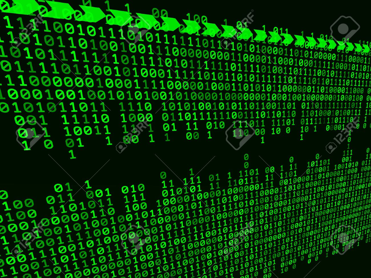 abstract binary background - 9041861