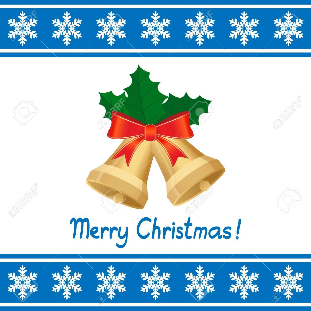 christmas card with bells Stock Vector - 11276950