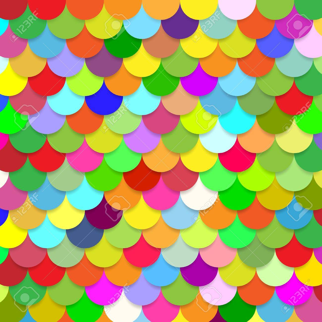 abstract colorful background scales Stock Vector - 20327873