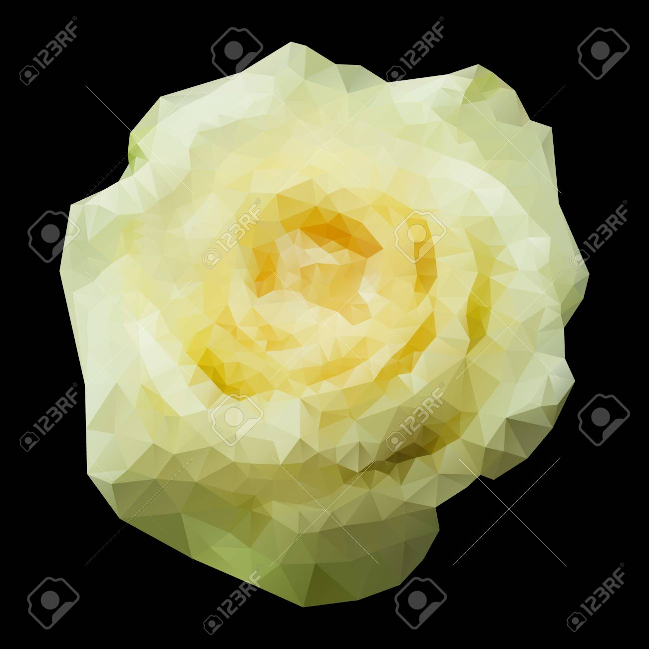 Abstract geometric polygonal white rose for your design. Stock Vector - 23399933
