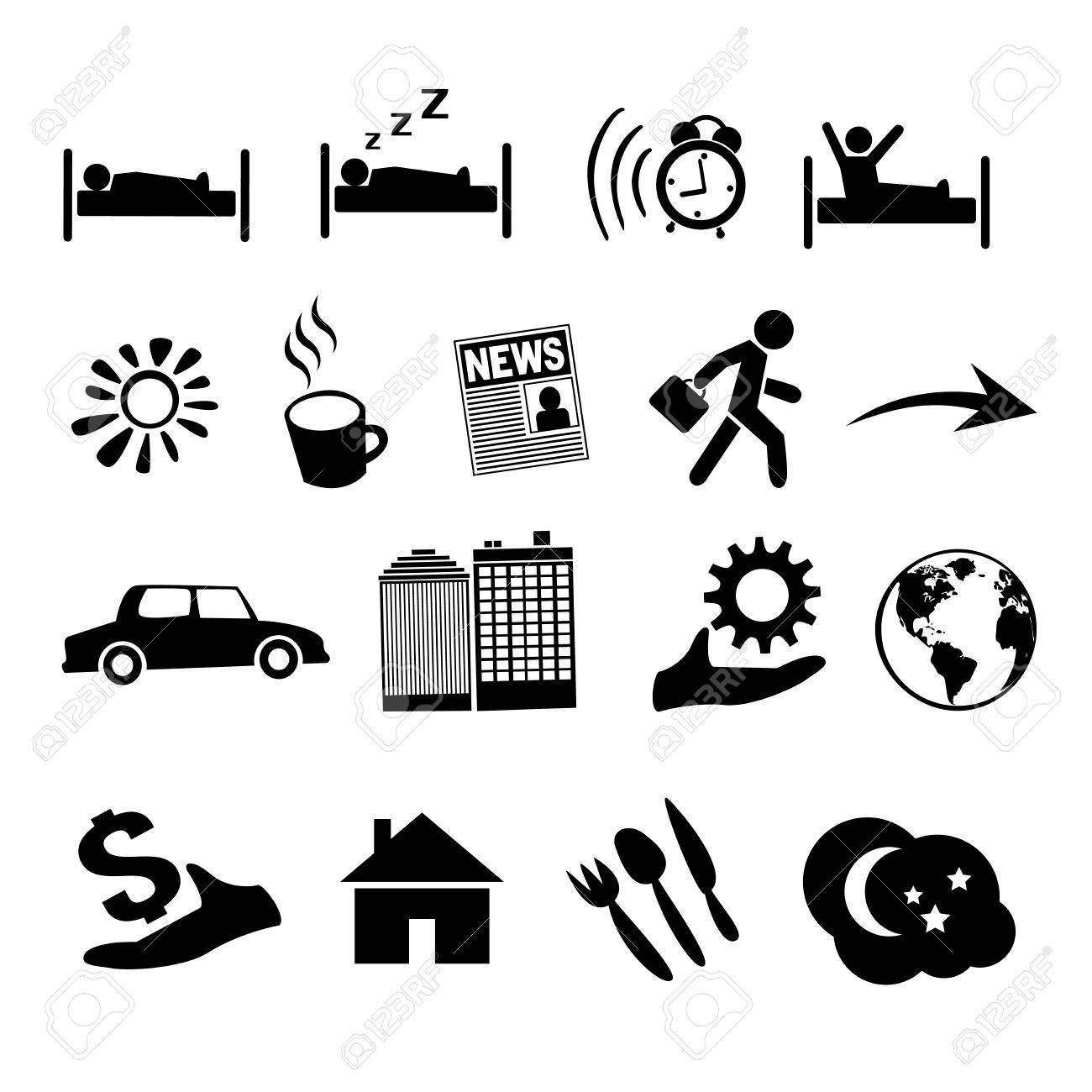 Concept of human life icons. EPS 8 Stock Vector - 23985253