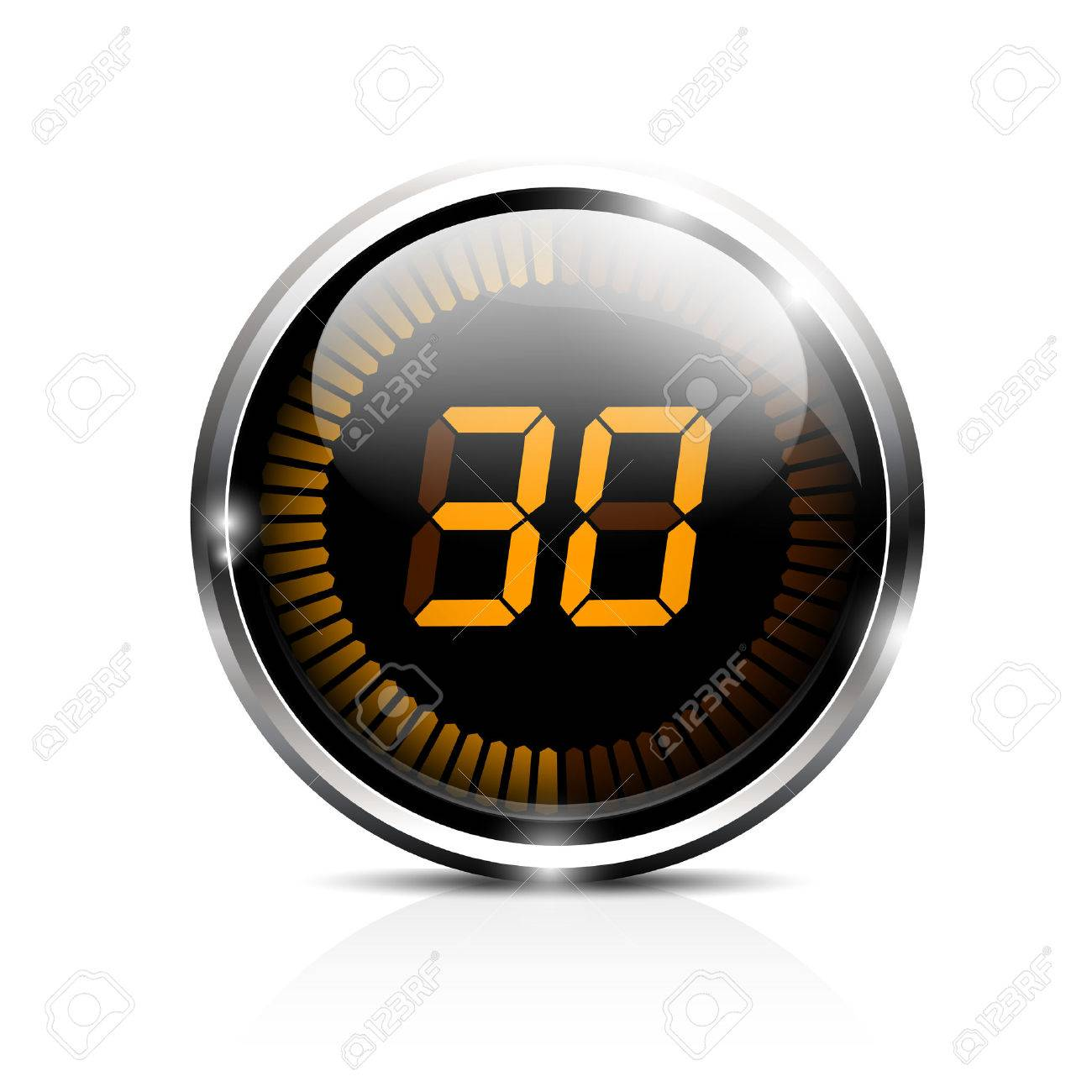 Electronic Brilliant Timer 30 Seconds Royalty Free Cliparts ...