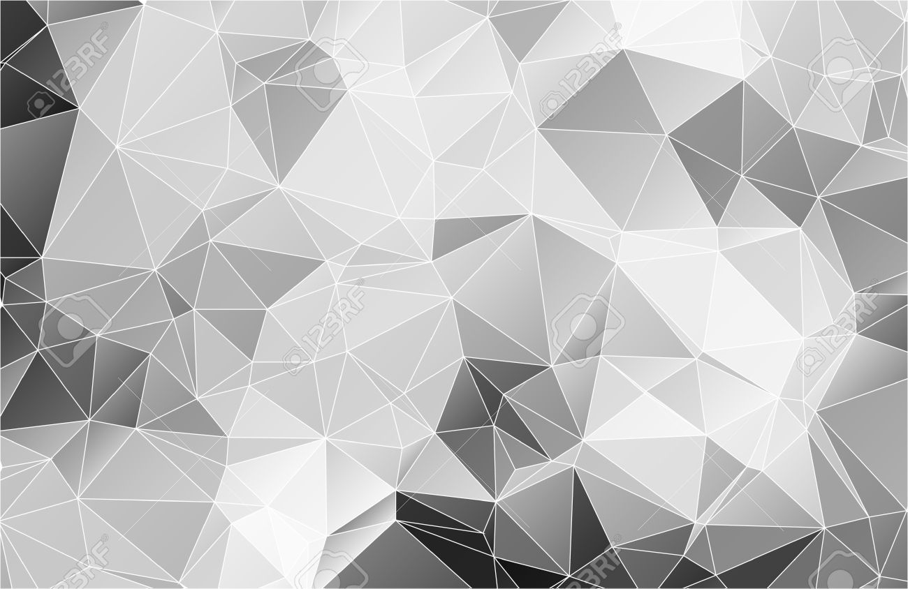 Black And White Abstract Background Polygon Stock Vector