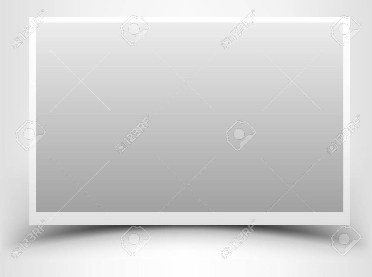 Empty Gray Photo Frame With Shadow Royalty Free Cliparts, Vectors ...