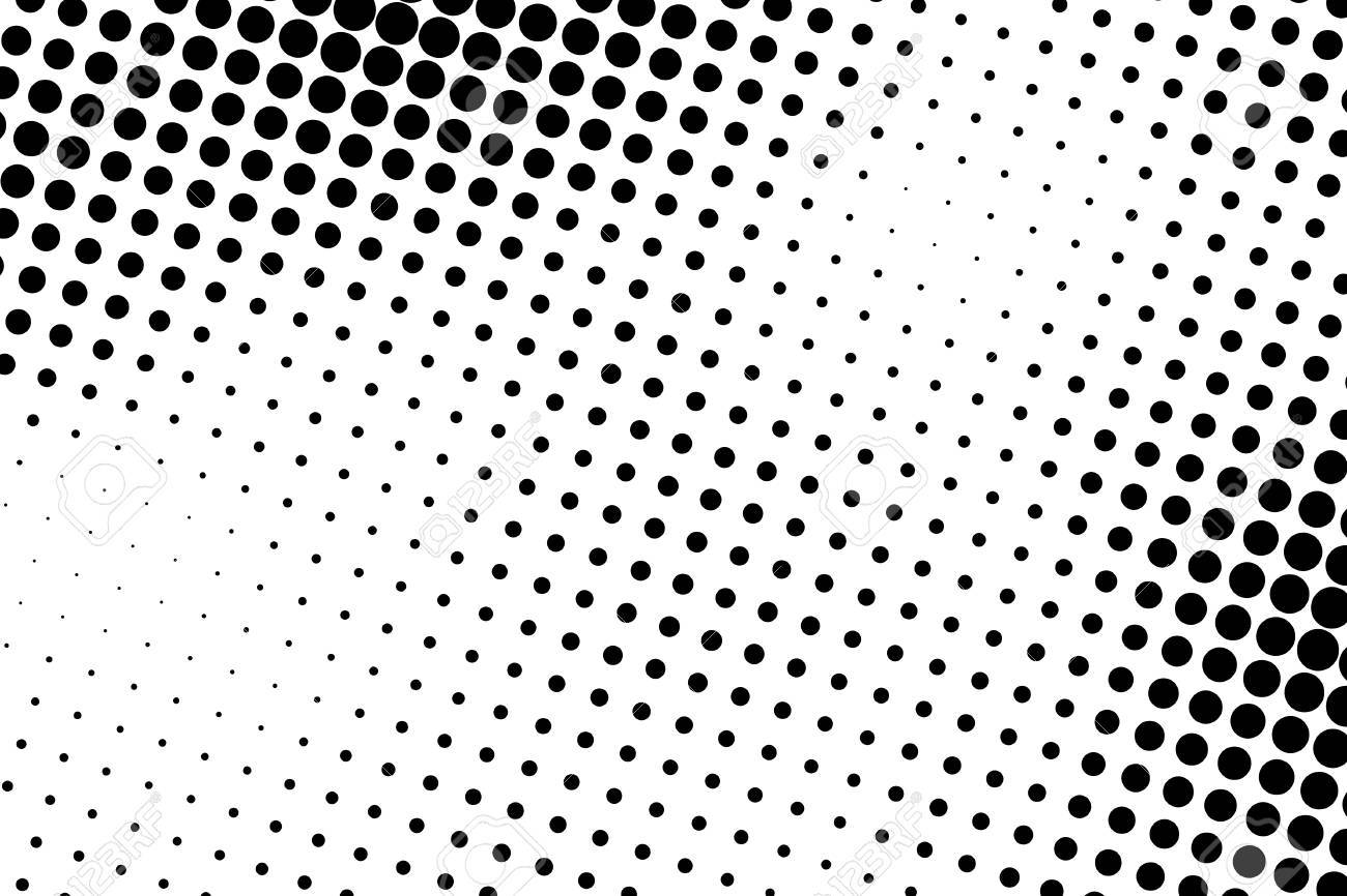 Black and white dot background black dots on white background stock