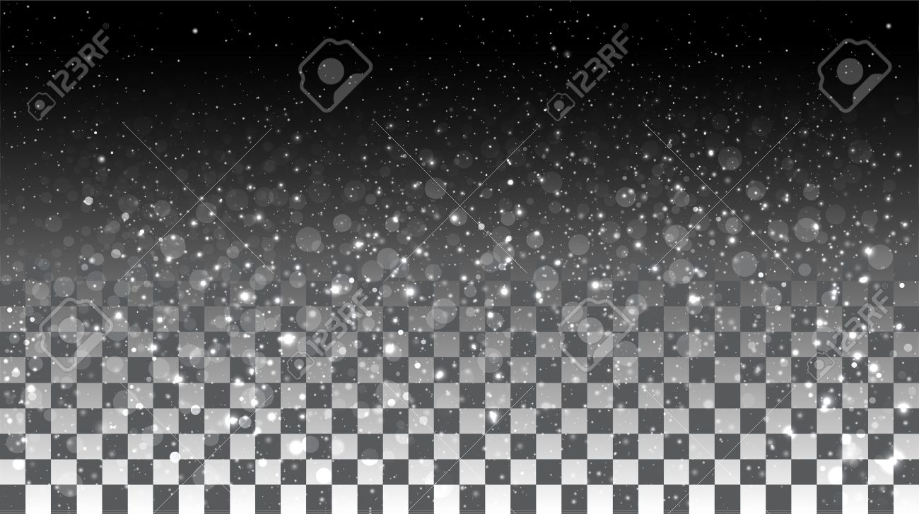 Falling snow on a transparent background. Vector special effects on a transparent background - 39521918