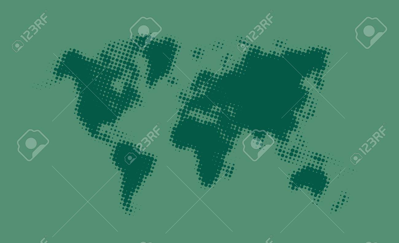 Green halftone political world map illustration vector art royalty green halftone political world map illustration vector art stock vector 52597442 gumiabroncs Image collections