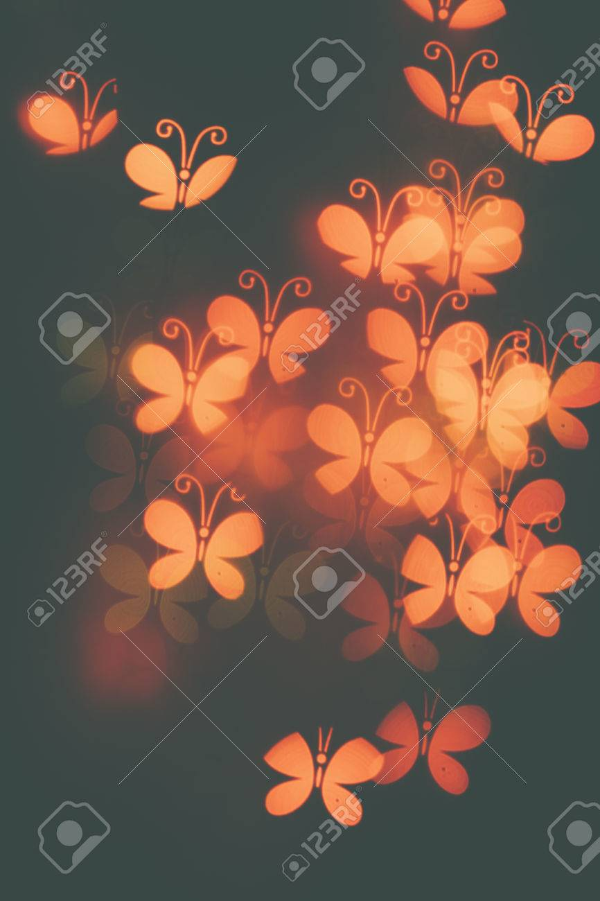 Many Orange Butterflies On A Dark Background Design Wallpaper Stock Photo Picture And Royalty Free Image Image 55892790
