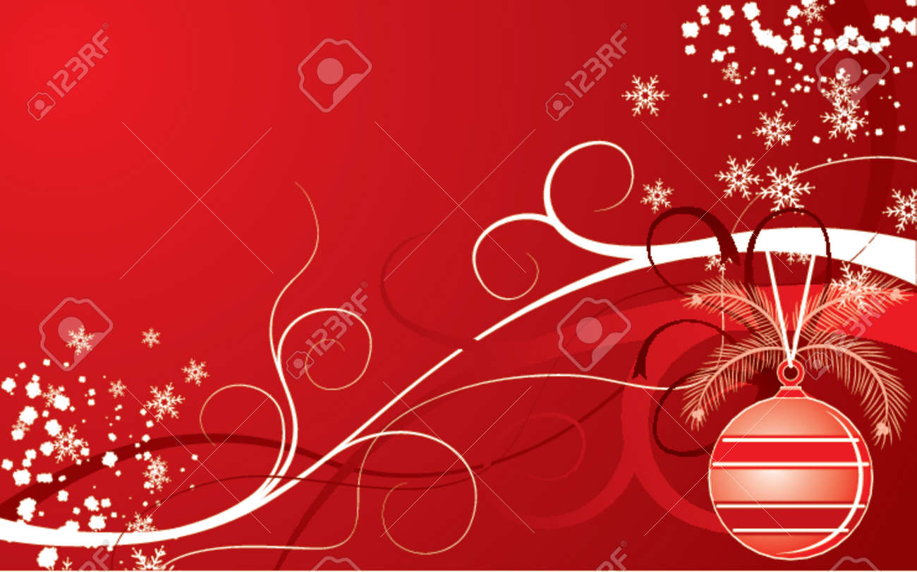 Christmas background, vector illustration Stock Vector - 654475