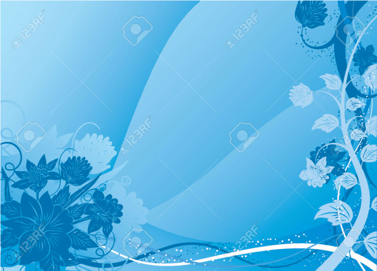 Floral background, vector illustration Stock Vector - 725707