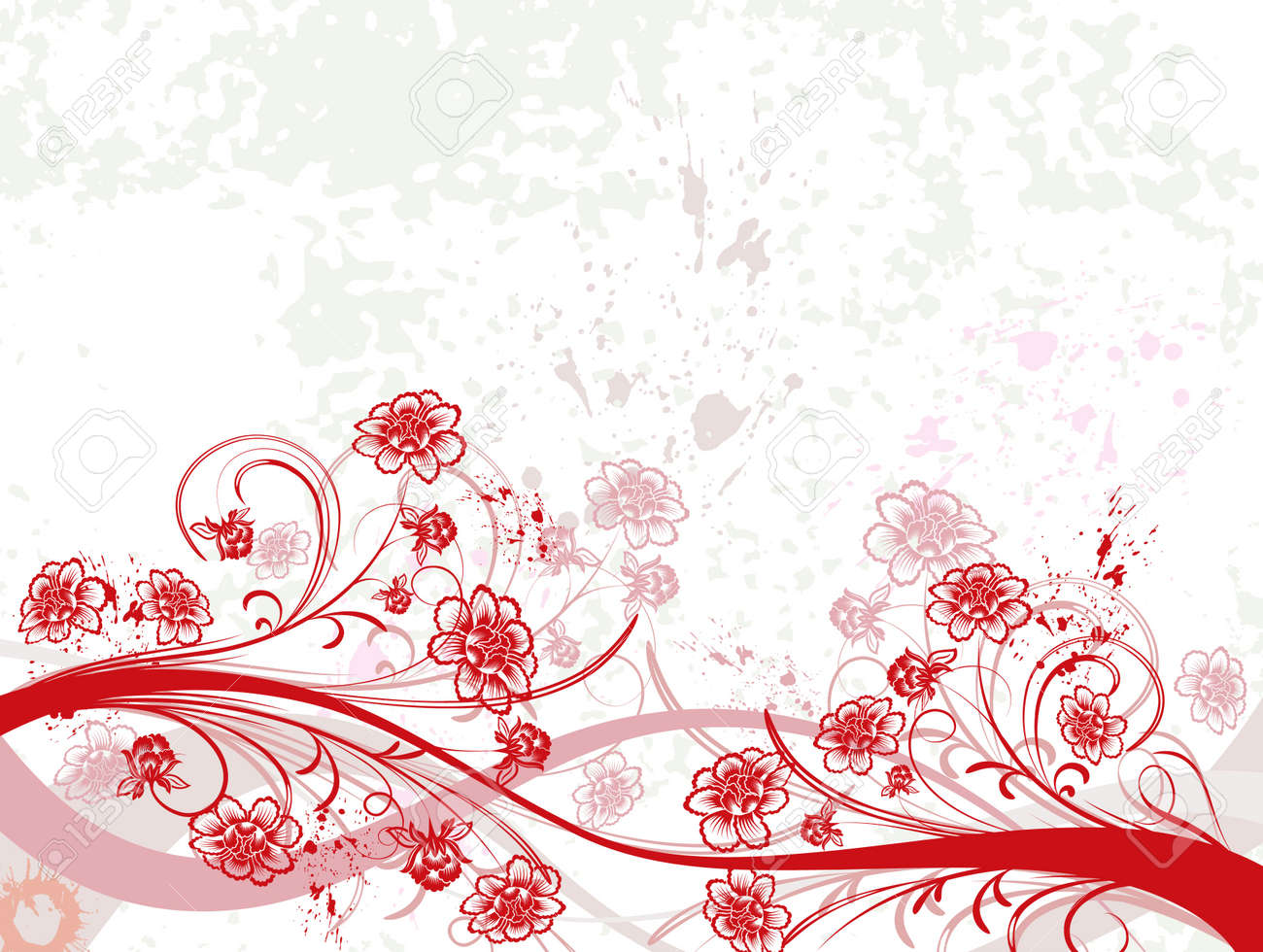 Grunge paint floral chaos, element for design, vector illustration Stock Illustration - 873485
