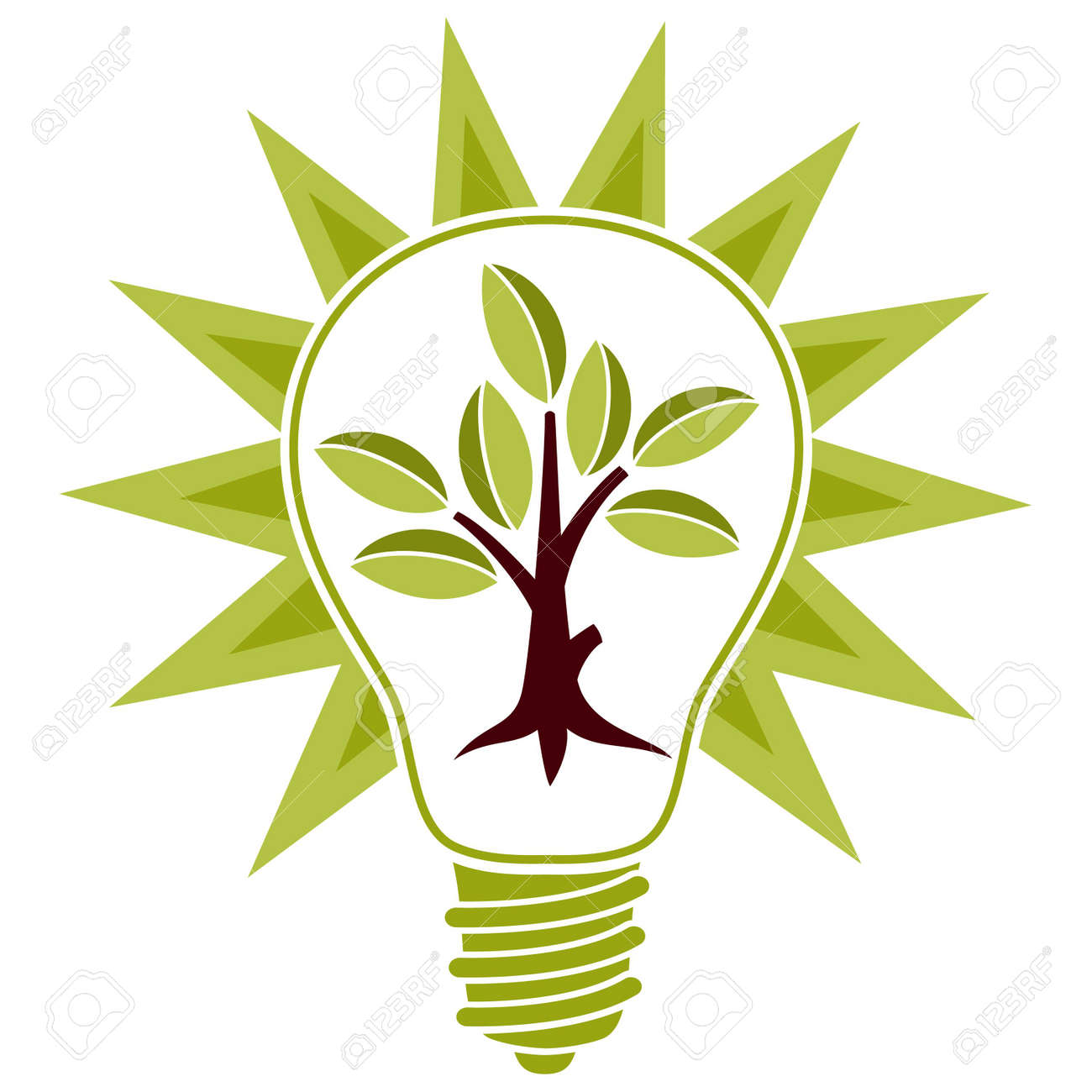 Clipart Energy Saving Energy Saving Bulb Stylized