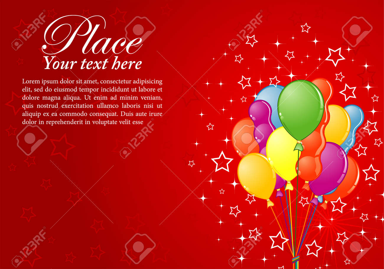 Birthday Background With Balloon And Star Element For Design Royalty Free Cliparts Vectors And Stock Illustration Image 10071350