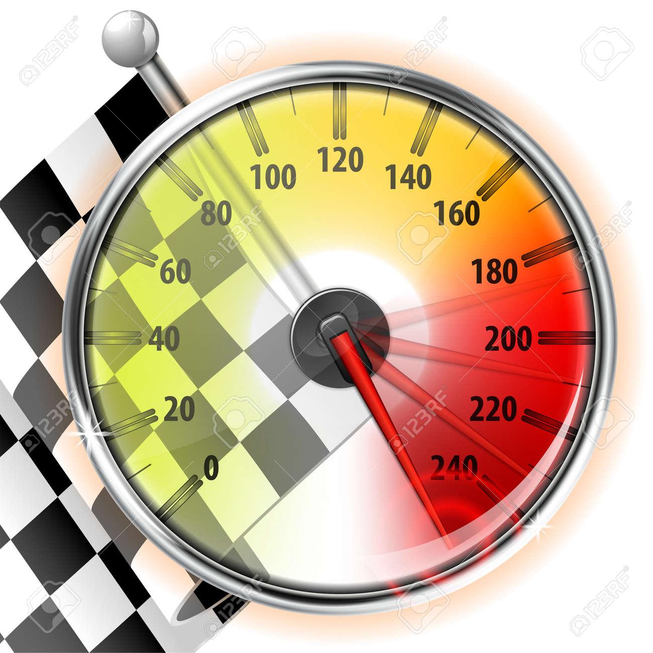Concept Winner Champion Detailed Car Speedometer With Maximum