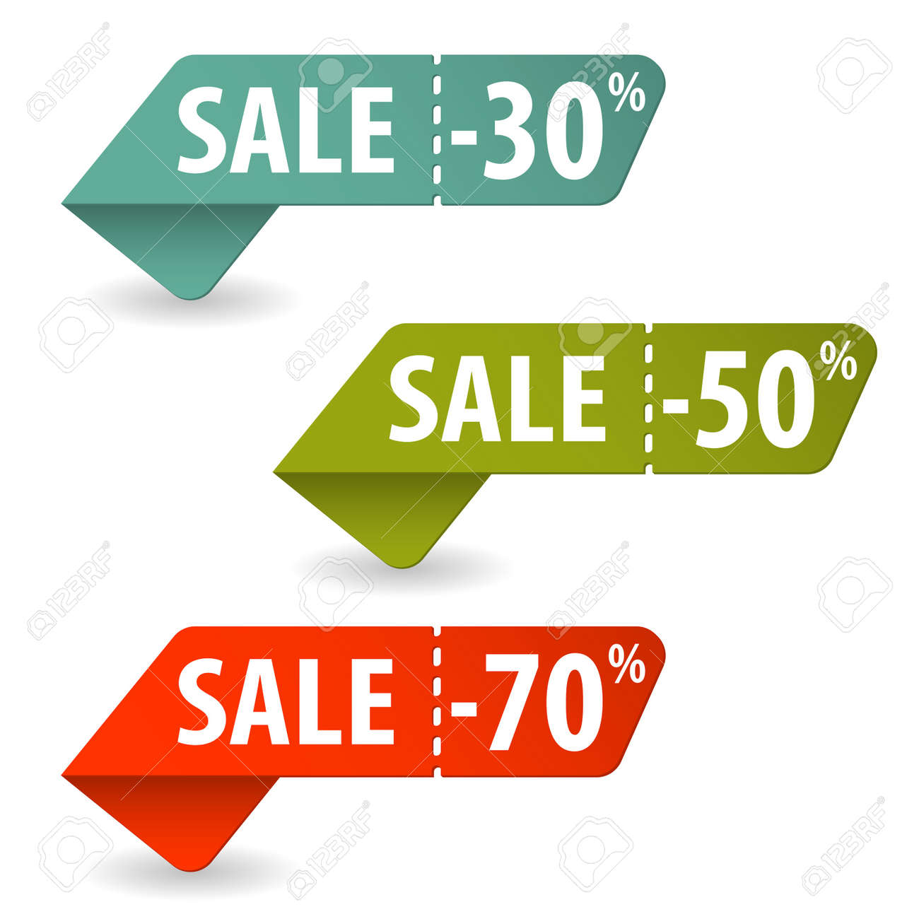 Collect Sale Signs with Tear-off Coupon Stock Vector - 15089754