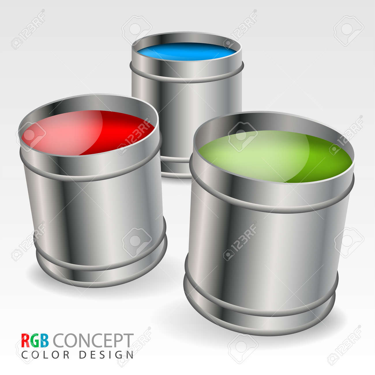 Cans of paint in RGB colors,  concept Stock Vector - 15540351