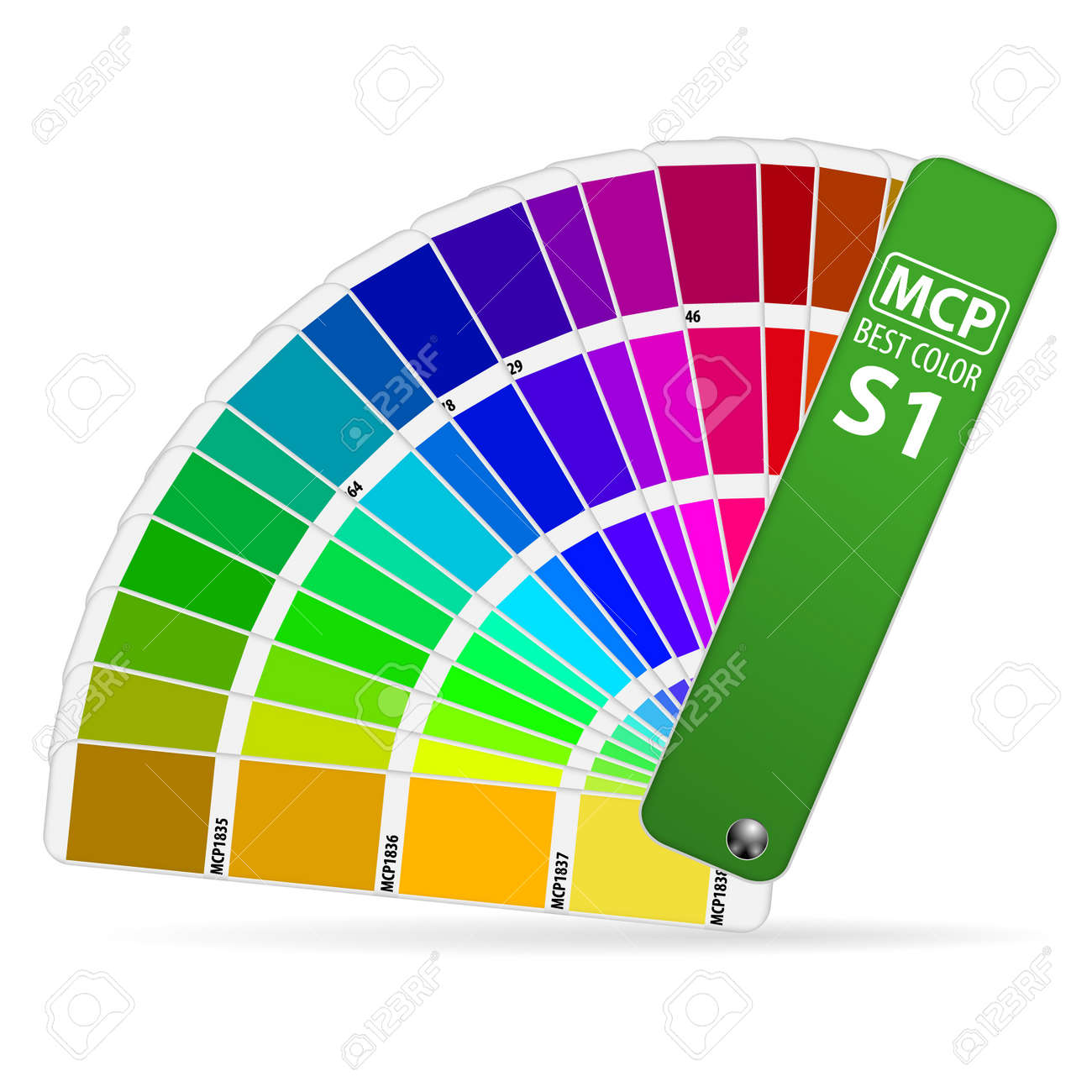 Color Guide Palette, isolated on white background,illustration Stock Vector - 15540343