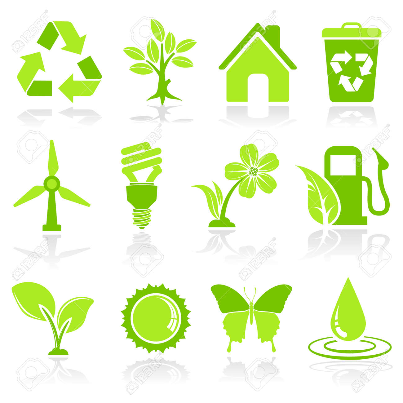 Collect environment icon with tree leaf light bulb recycling collect environment icon with tree leaf light bulb recycling symbol vector isolated buycottarizona