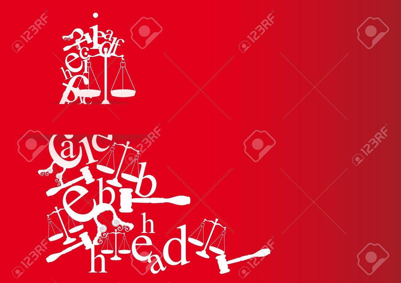 Tarjetas De La Nota Y La Invitación De La Licenciatura En Derecho Con Símbolos Para Los Estudiantes Que Se Gradúan En La Ley