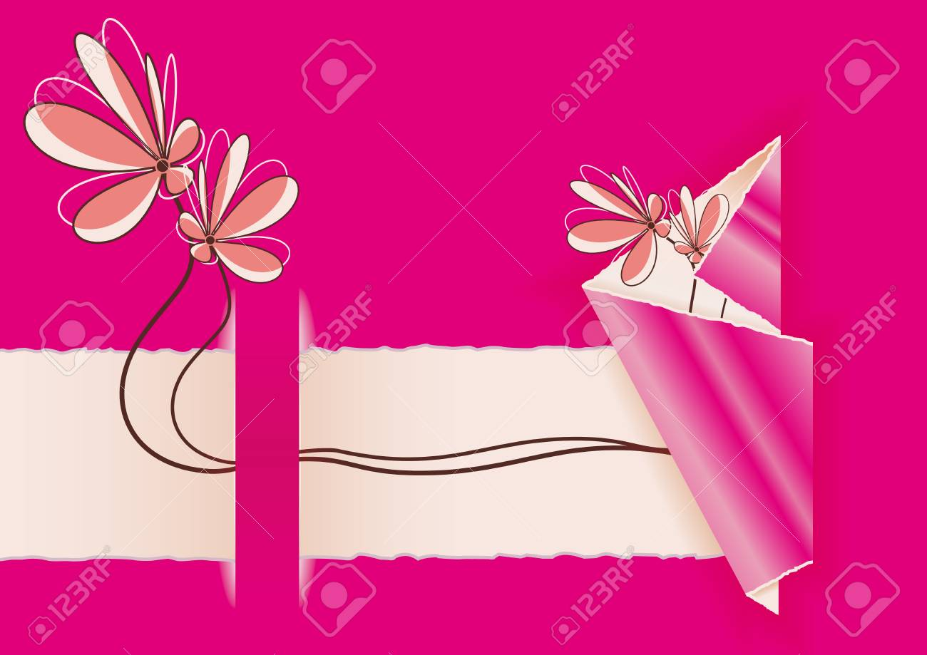 delicate flowers easter from tear out Stock Vector - 17882367
