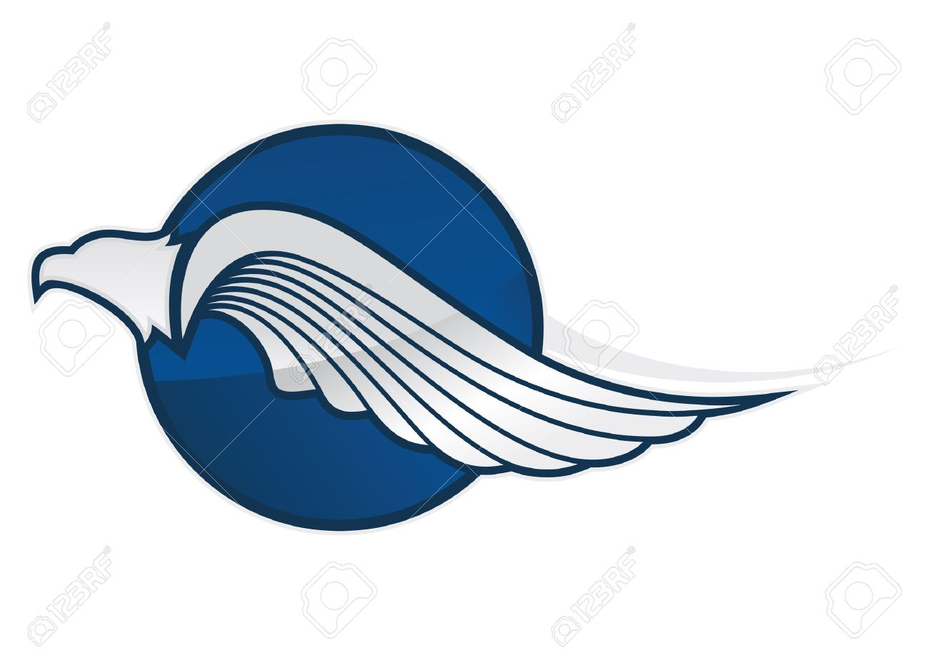 blue eagle symbol on a white background Stock Vector - 19020103