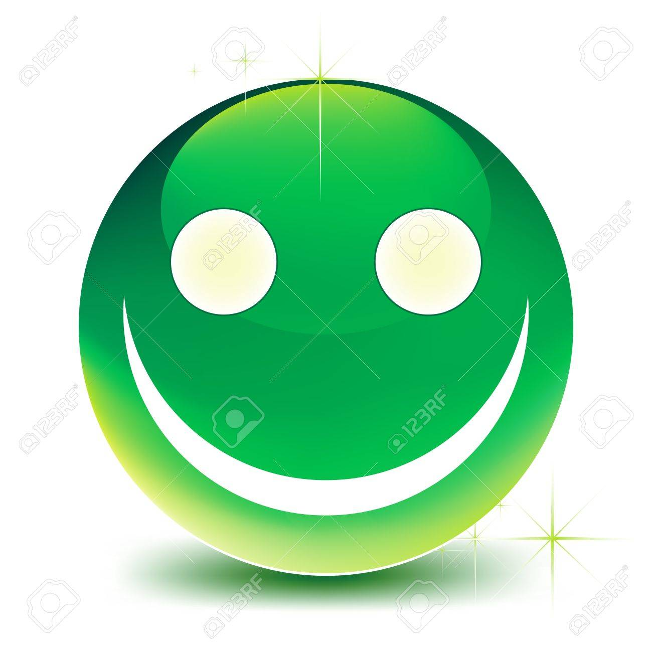 vector green smile on a white background Stock Vector - 20351683