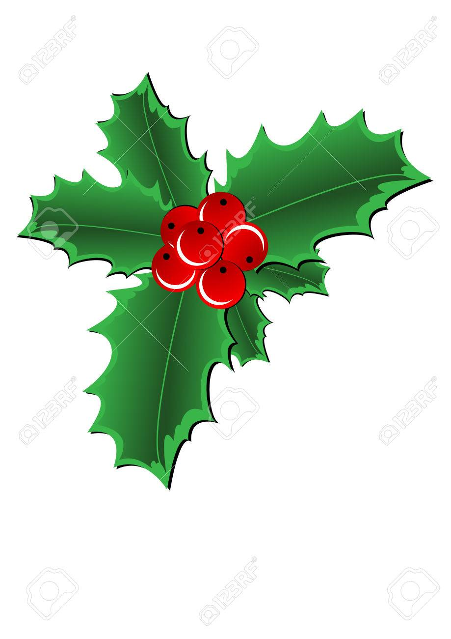 Holly And Red Berries Border Stock Photo - Image of frame, berry: 11597548