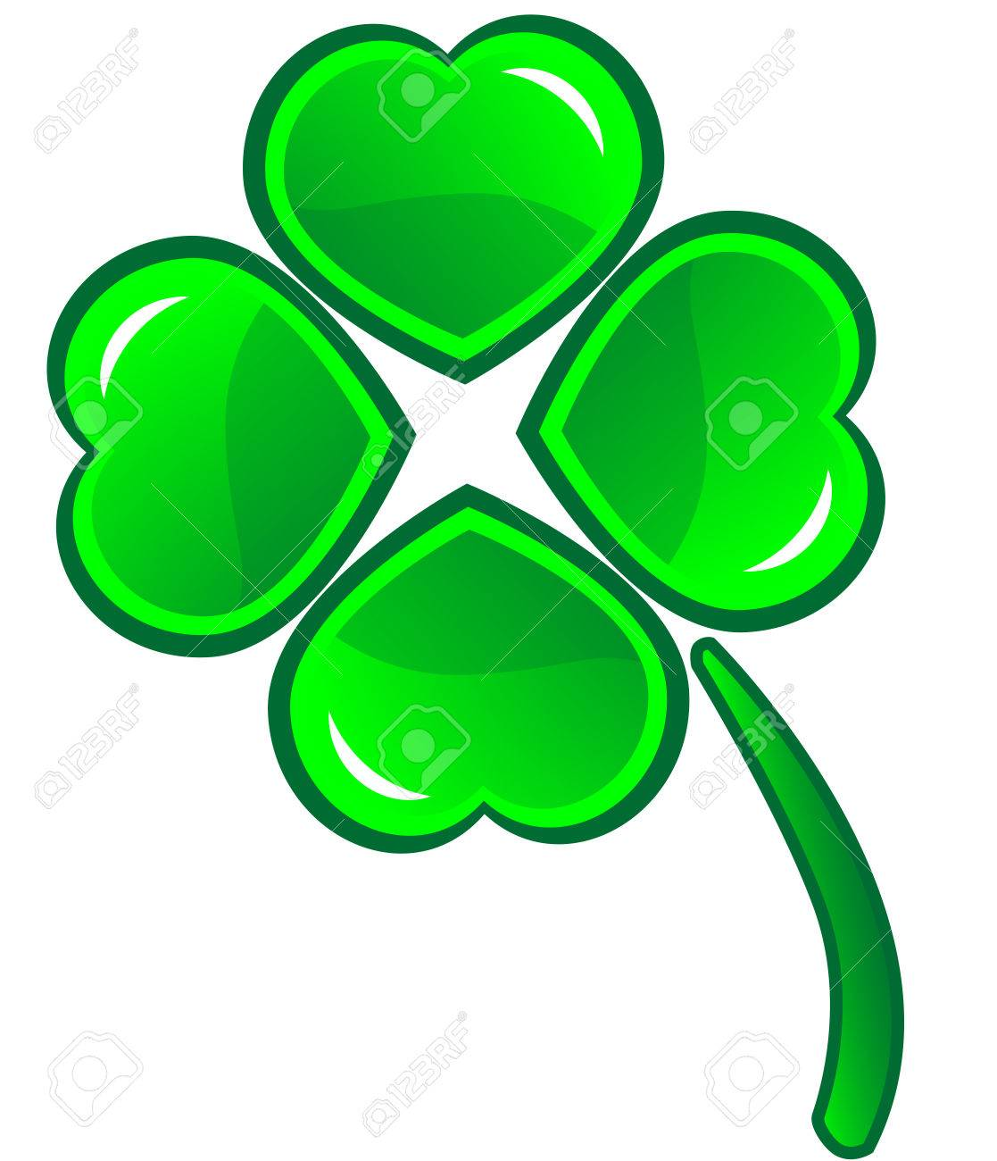 Four leafs clover symbol - detailed vector icon Stock Vector - 6682357
