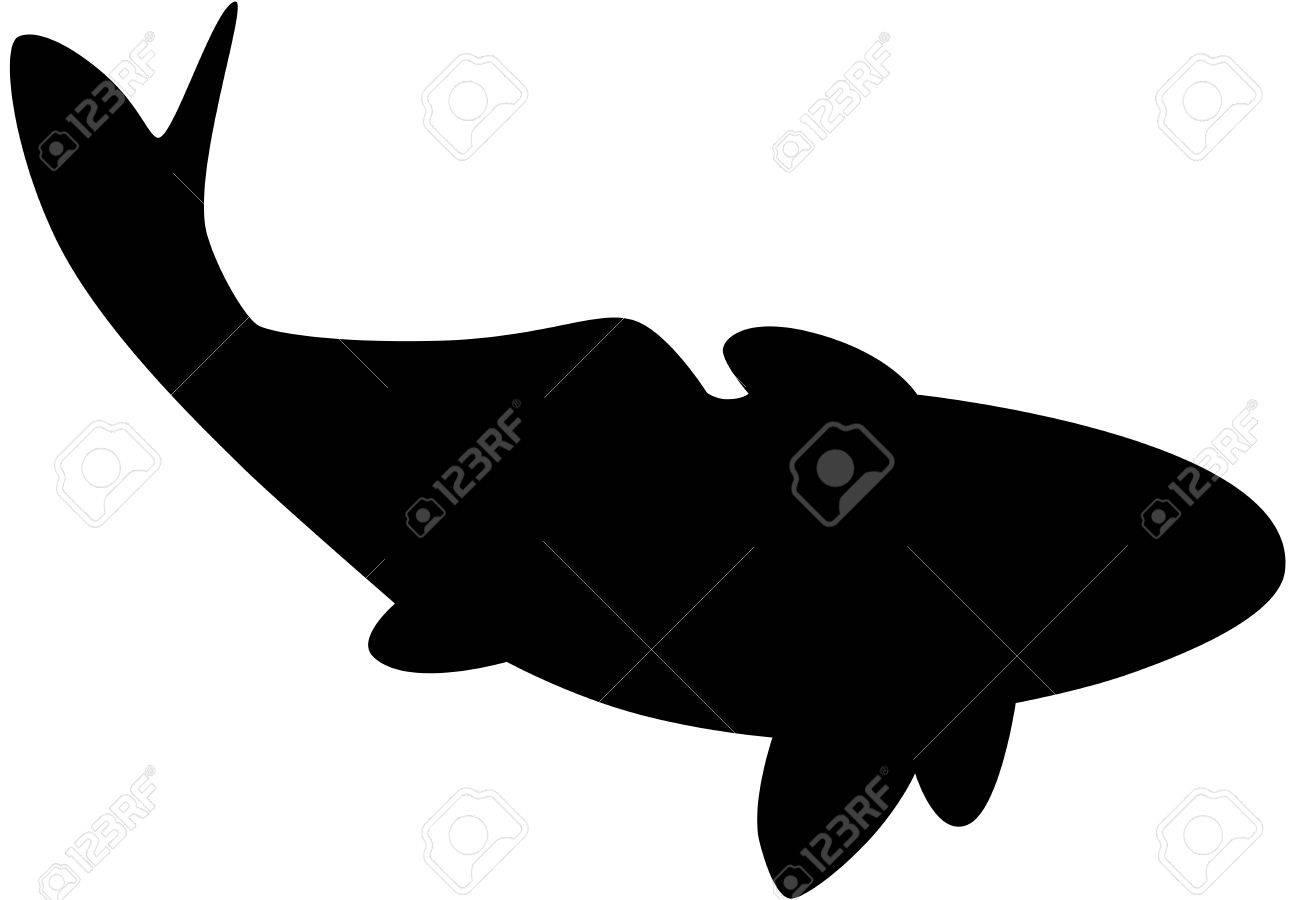 Black fish silhouette Stock Vector - 6854262