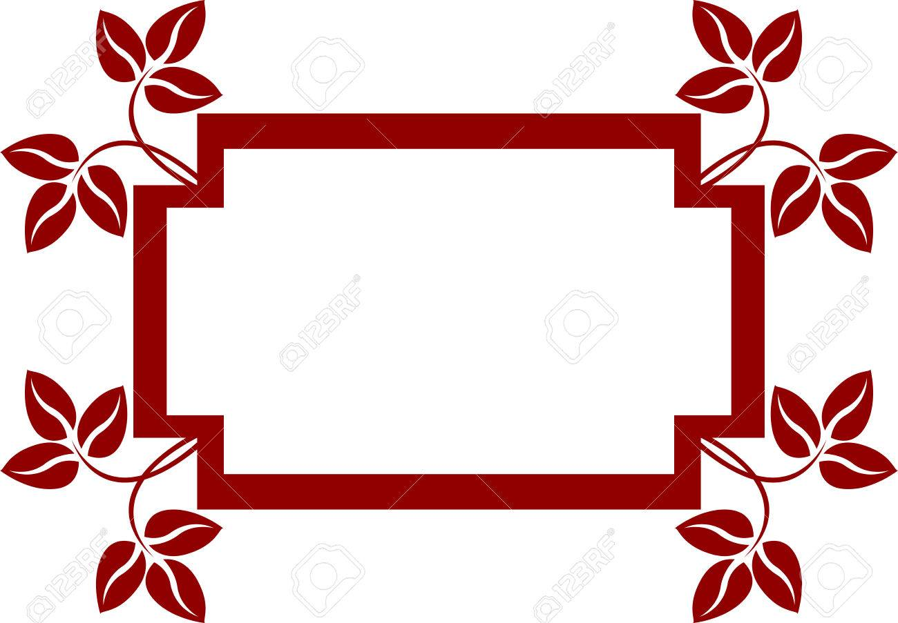 This is floral frame, isolated.  illustration Stock Vector - 7090857