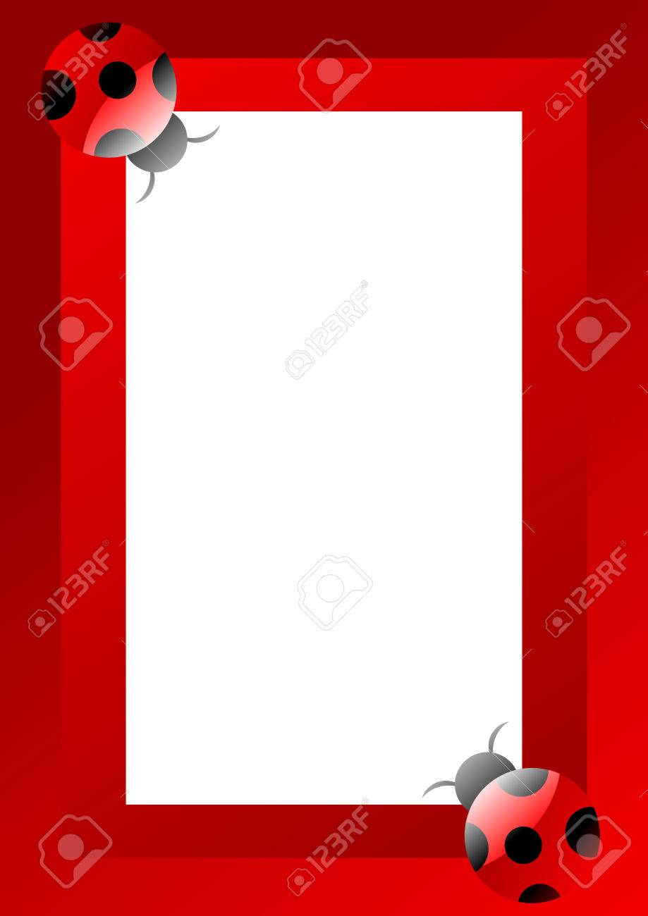 Frame Made Of Fun Ladybugs Royalty Free Cliparts, Vectors, And Stock ...