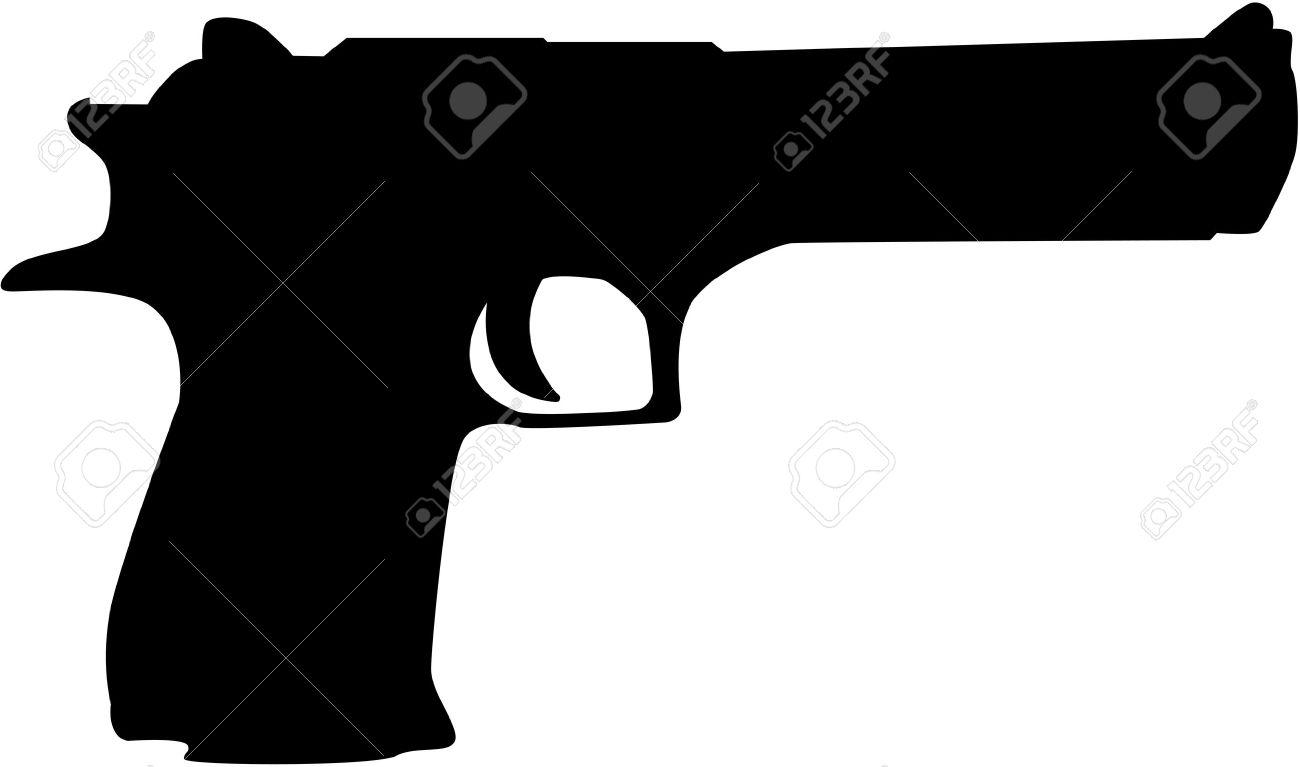black hand gun silhouette royalty free cliparts vectors and stock rh 123rf com gun vector 2015 gun vector art