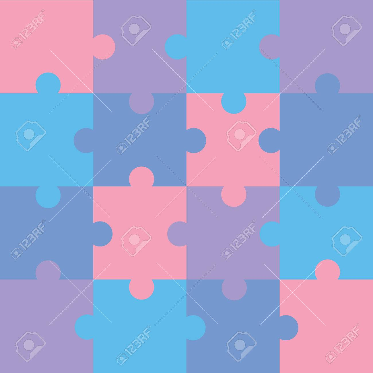 Jigsaw color puzzle pattern Stock Vector - 7485439