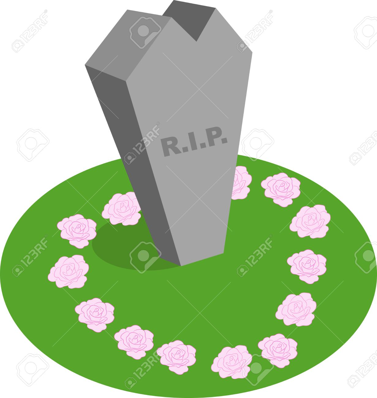 Illustration of a cartoon abstract tombstone with R.I.P written on it. Stock Vector - 7580487