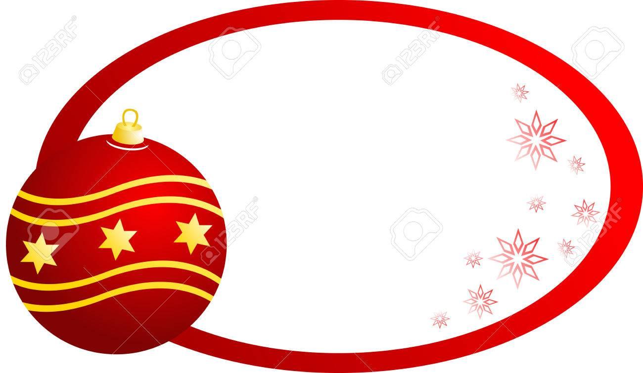 banner de navidad con bola de navidad roja aislado foto de archivo