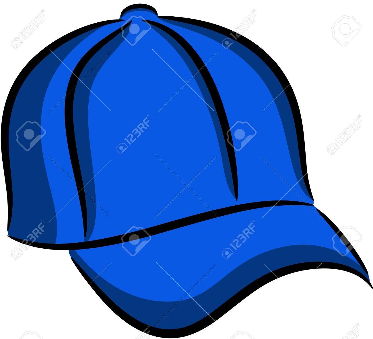 青い野球帽分離のイラストのイラスト素材ベクタ Image 13827935
