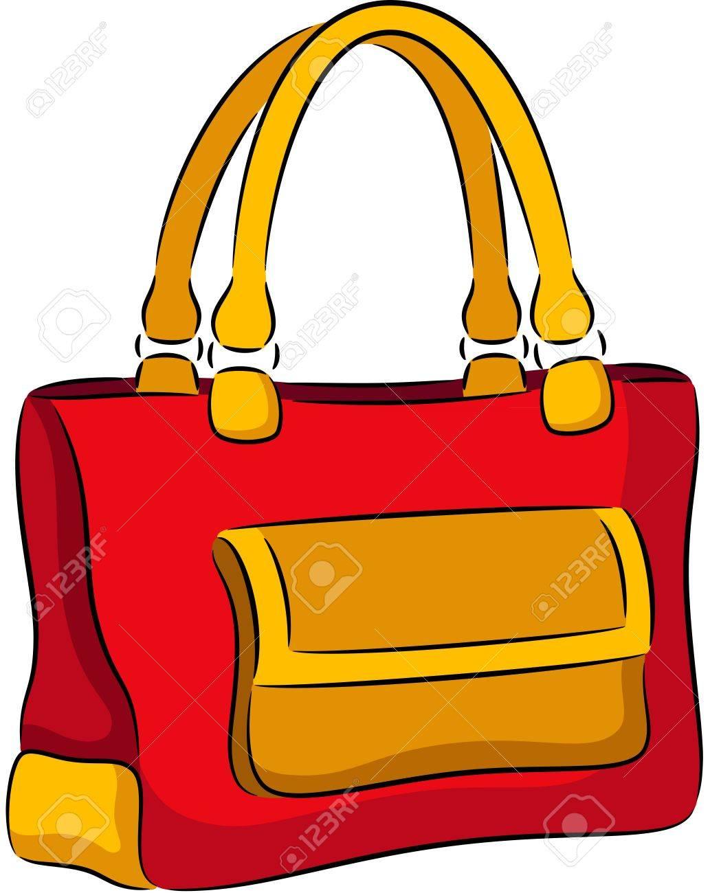Illustration de la femme sac à main, isolé
