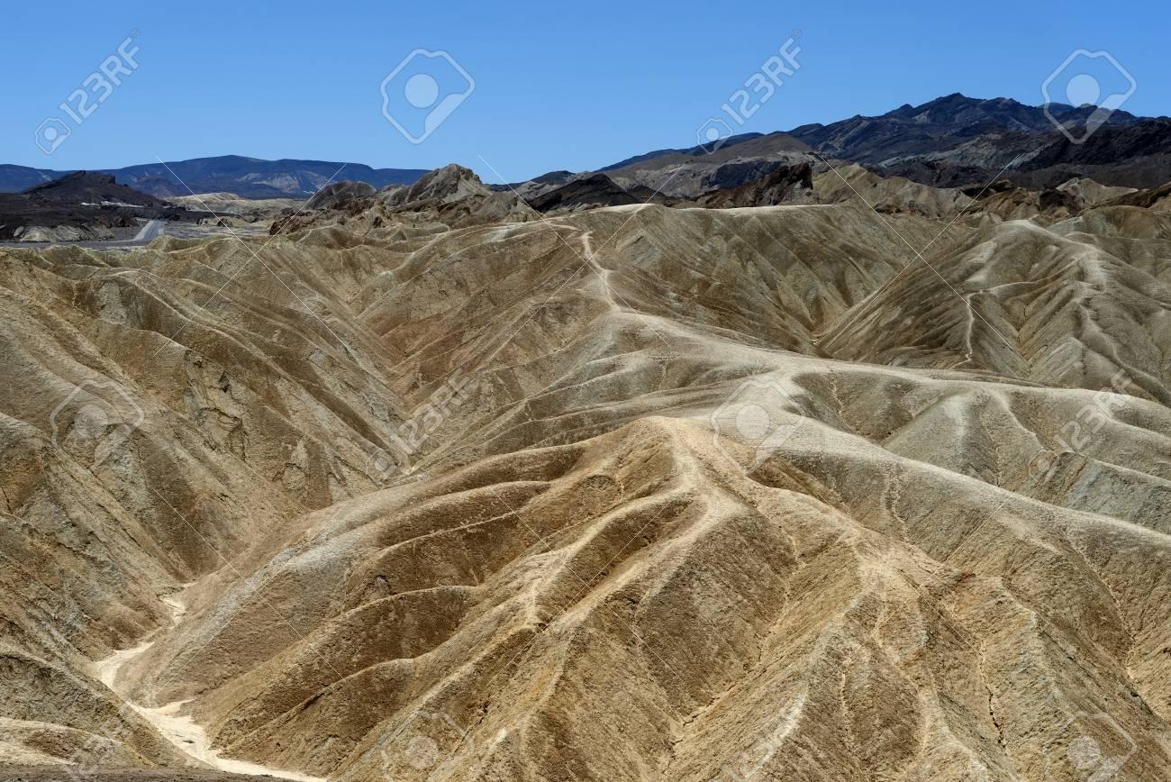 Zabriskie Point Parque Nacional Del Valle De La Muerte California Ee Uu
