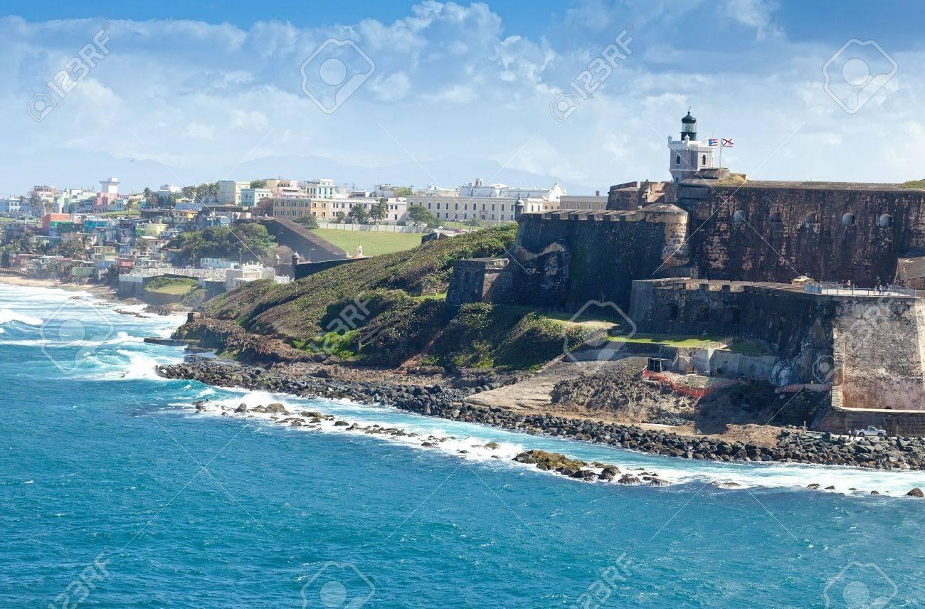 Coastline of San Juan, Puerto Rico - 17091694