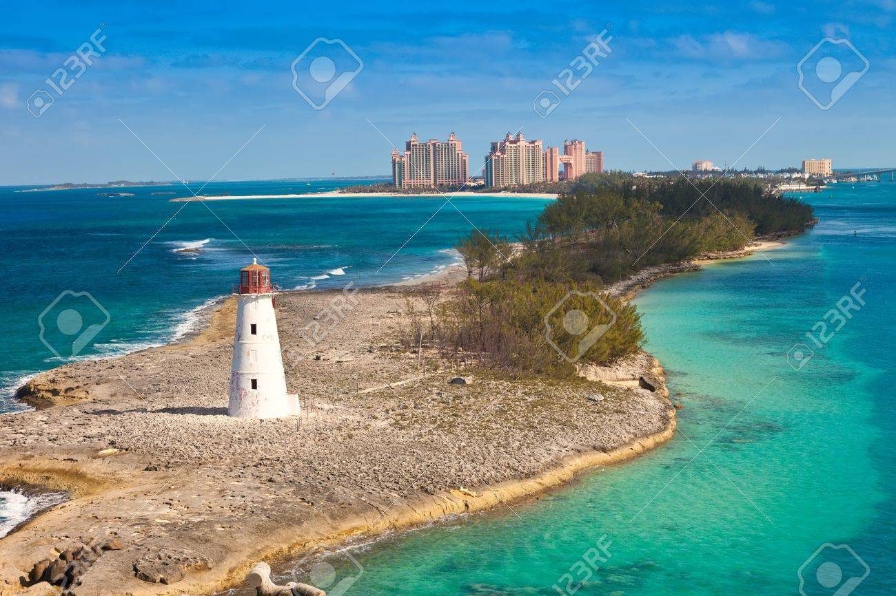Tropical And Beautiful Paradise Island, In Nassau, Bahamas Stock ...