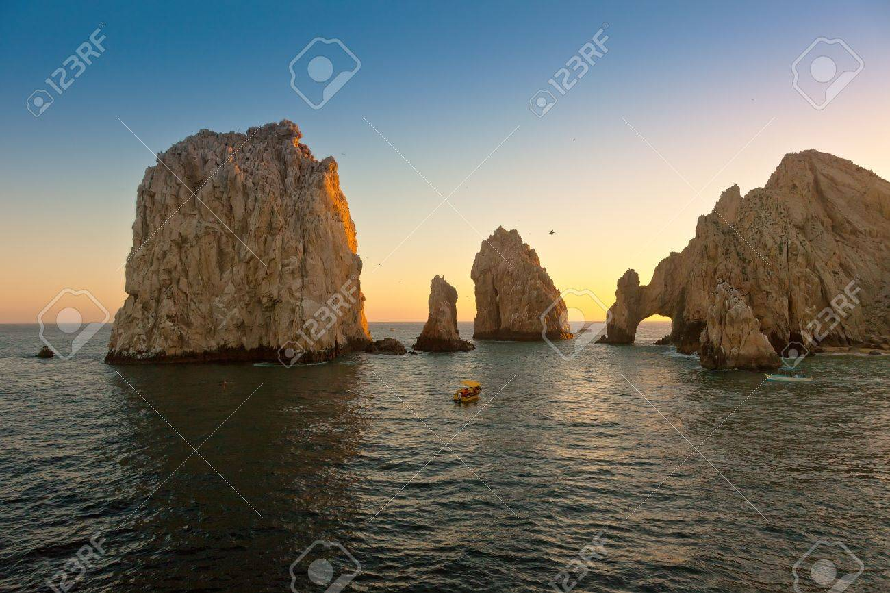 Beautiful Land's End in Cabo San Lucas, Mexico at sunset - 22458363