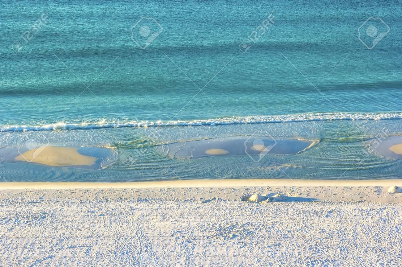 Stretch of Miramar Beach in Destin, Florida along the Gulf of Mexico - 35313949