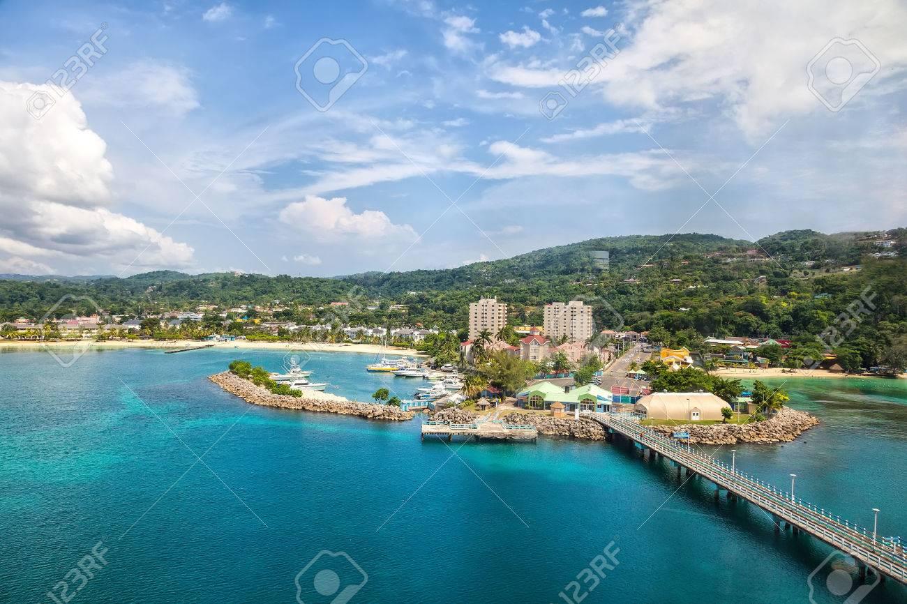 Cruise port in the tropical Caribbean island of Ocho Rios, Jamaica - 40083325