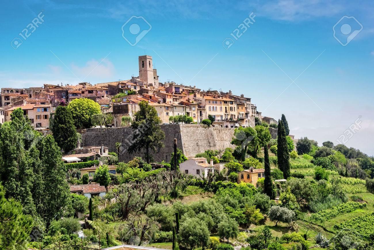 Saint-Paul-de-Vence, a old historic village in France. - 69027845